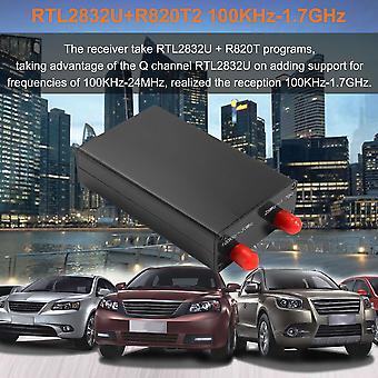 100khz-1.7ghz פס מלא RTL-sdr USB מקלט רדיו מקלט Rtl2832u +r820t2