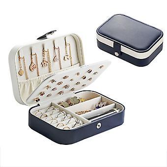 Boîte à bijoux Organisateurtravel Pu Étui de rangement en cuir