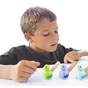 Baby Holz Cartoon Tier Pfeife Spielzeug pädagogische Musik Instrument Spielzeug