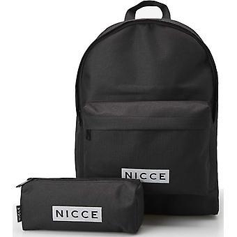 NICCE Station Backpack Bag and Pencil Case Set Black 50
