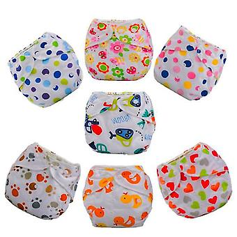 Lote 7 Fraldas Laváveis De Bebê Te1 + 14 Microfiber Insert Baby Girl Ou Boy Candy Colors