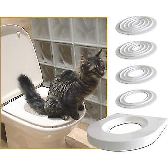 Mačacia tréningová súprava učí mačku používať toaletu v 5 malých krokoch