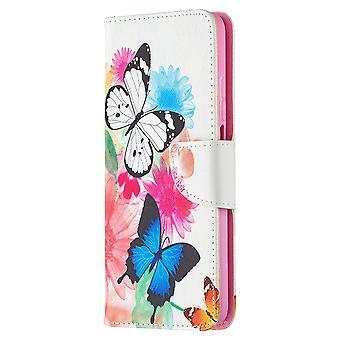 Cas pour Xiaomi Mi 10t/10t Pro Pattern Two Butterfly