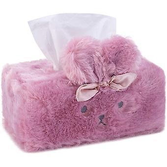 Vävnadslåda omslag Vävnadshållare Dekoration Kanin Kanin Vävnad Box Omslag
