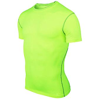 Sous la couche de base T-shirt Hommes Compression Muscle Tee Gym Sports Fitness Top
