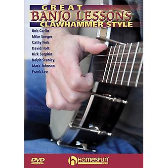 Great Banjo Lessons: Clawhammer Style [DVD] USA import