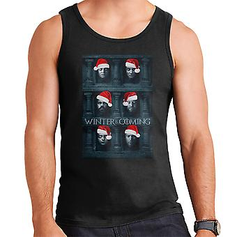 Winter Is Coming Game Of Thrones Faces Christmas Men's Vest