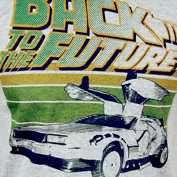 Volta para o futuro Mens Retro de volta para o futuro T camisa cinza