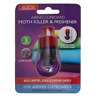 Acana Airing Cupboard Moth Killer & Freshener with fixing kit from Caraselle