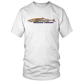 Ik hou van zalm vissen visser vader Mens T Shirt