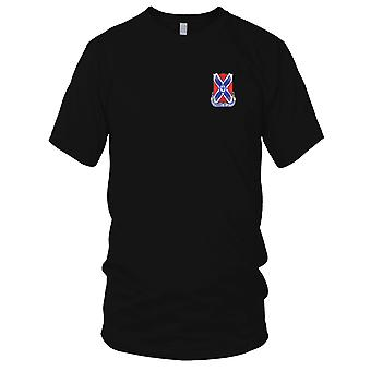 US Army - 877th Engineer Battalion Embroidered Patch - Mens T Shirt