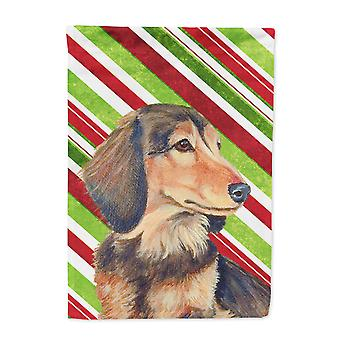 Carolines Treasures  LH9256-FLAG-PARENT Dachshund Candy Cane Holiday Christmas