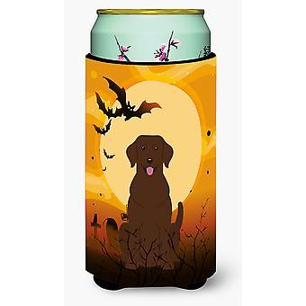 Halloween czekoladowy Labrador wysoki chłopiec napojów izolator Hugger