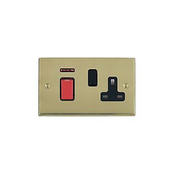 Hamilton Litestat Cheriton Victorian Polished Brass 45DP+N+SS1 BL/Red/BL