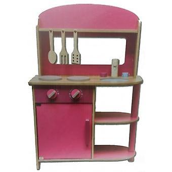 Vaaleanpunainen lelu keittiö 71 cm.