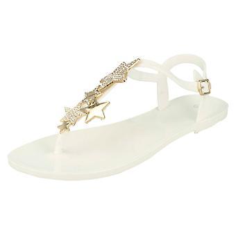 Damen Fuß Post Sandalen mit Sterne-Details