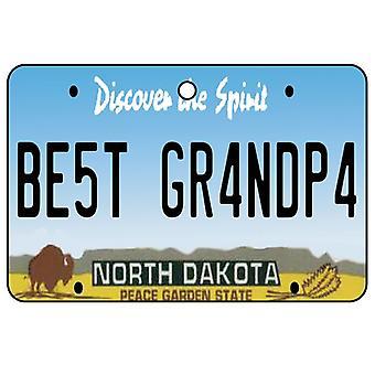 North Dakota - Best opa License Plate auto luchtverfrisser