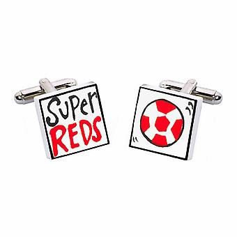 Super Reds Cufflinks by Sonia Spencer, in Presentation Gift Box. Hand painted