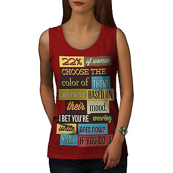 Panties Mood Smile Funny Women RedTank Top | Wellcoda