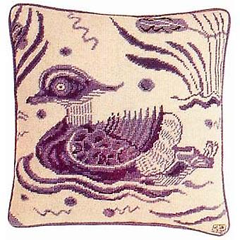 Blue Duck - Left Facing  Needlepoint Kit