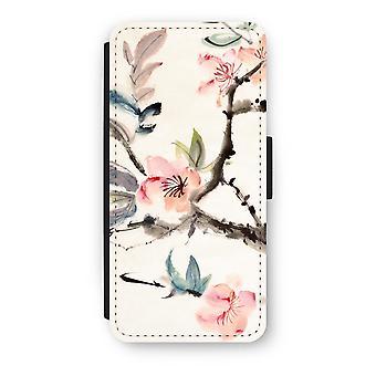 iPhone 5/5 s/SE Flip Case - Japenese Blumen