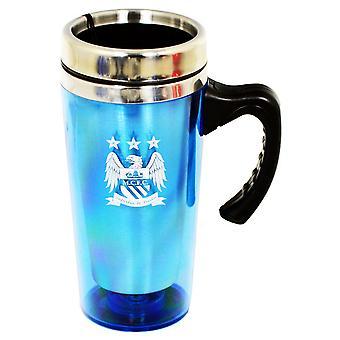 Manchester City FC officielle Aluminium fodbold Crest rejse krus