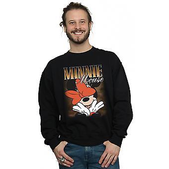 Disney mænds Minnie Mouse bue Montage Sweatshirt