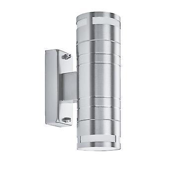 Suchscheinwerfer außen & Veranda verdoppeln GU10 LED Edelstahl leichte Stahlzylinder