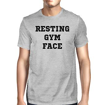 RGF Mens Grey Funny Graphic Tee Cute Workout T-Shirt Gift For Him