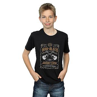 Johnny Cash gutter gitar etiketten t-skjorte