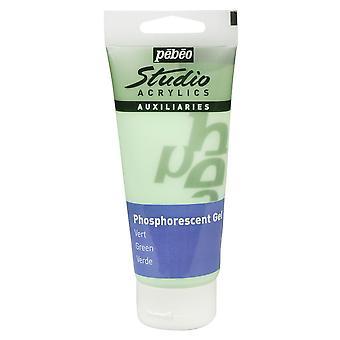 Pebeo Studio acrílico 100ml Gel (verde fosforescente)