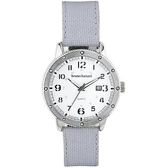 Relógio de pulso relógio de Bruno Banani da GEROS couro analógico BR30004