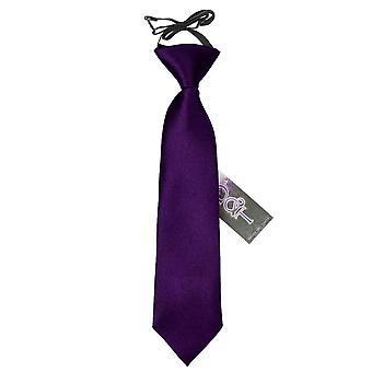 紫プレーン サテン ネクタイを伸縮性の男の子のため
