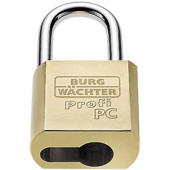 Burg Wächter 116 PC 50 Niro Padlock Brass EU cylinder padlock