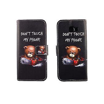 Caso malote do telefone móvel para móvel Samsung Galaxy A5 2017 rotulação urso com motosserra