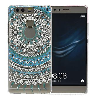 Henna cover voor Huawei honor V8 gevaldekking van het beschermende siliconen zon blauw