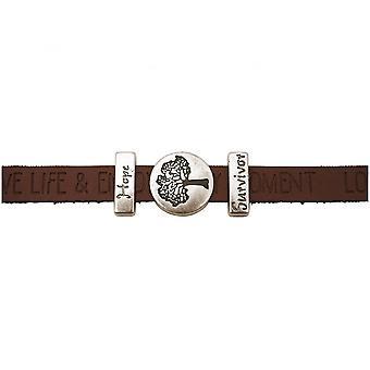Damen - Armband - Lebensbaum - WISHES - Braun - Dunkel - Magnetverschluss - Hope - Survivor