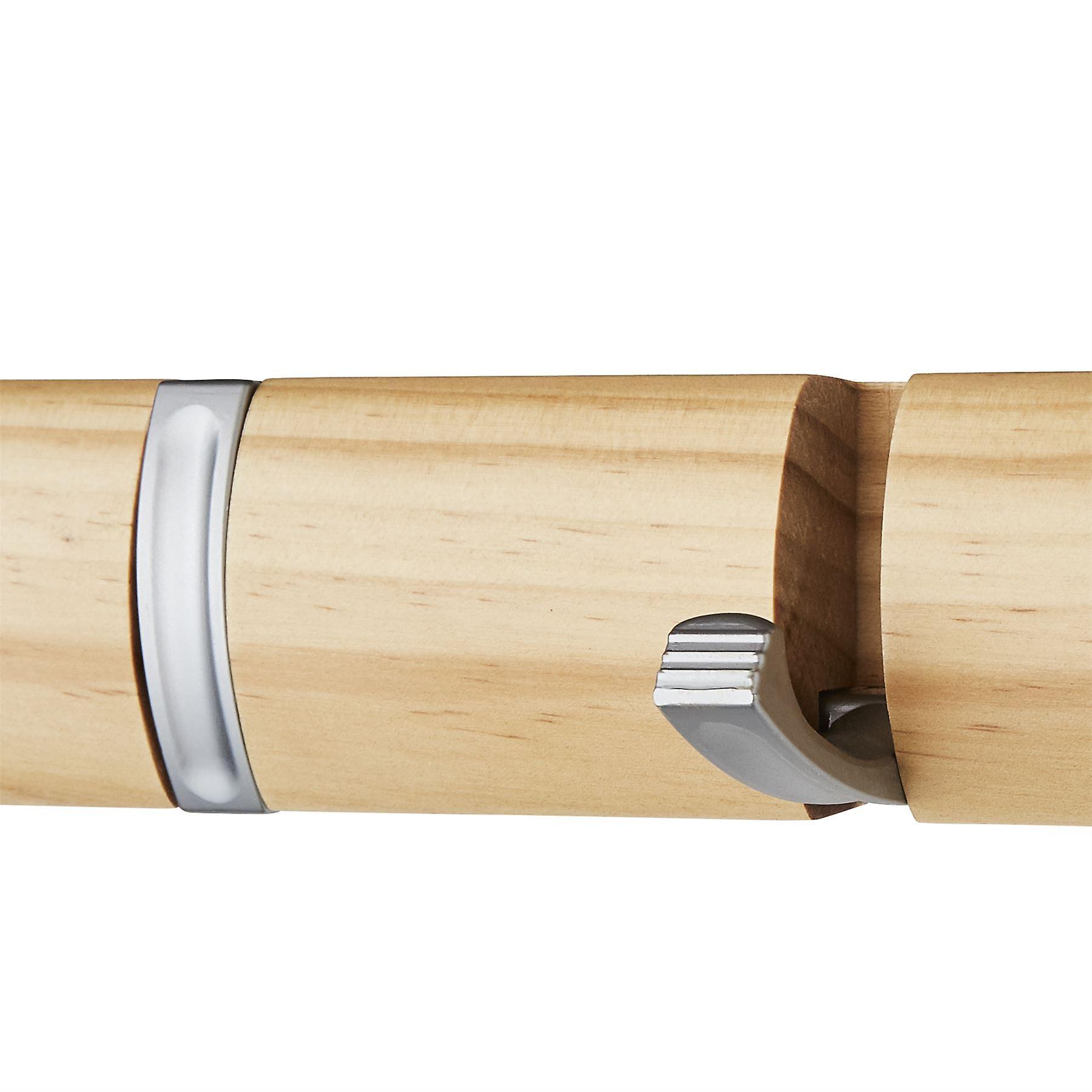 5 Door Hooks In Satin Chrome On Natural Pine Mountable Board