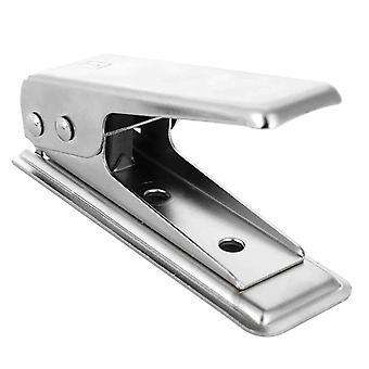 Nano SIM Cutter Punch - With SIM and Micro SIM Adapter for IPhone Samsung HTC LG Etc. Color: Silver