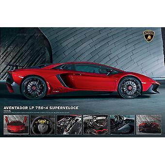 Lamborghini Aventador LP750-4 Superveloce 61 x 91,5 cm