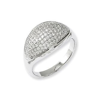 925 Sterling Silver and CZ Cubic Zirconia Simulated Diamond Fancy Polished Ring Jewelry Gifts for Women - Ring Size: 6 t