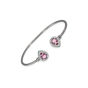 Pink bracelet with crystals from Swarovski 6331