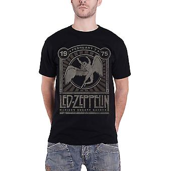 Led Zeppelin T Shirt Madison Square Garden 1975 Event new Official Mens Black