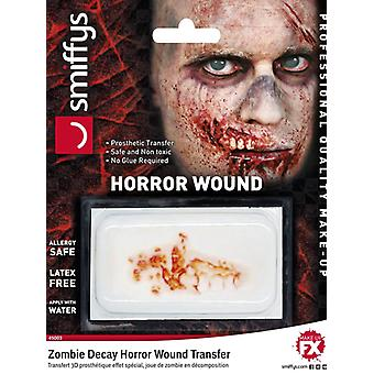 Transfert de plaie horreur, décomposition de zombie
