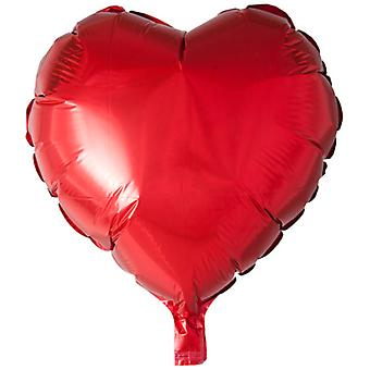 Globo de papel de aluminio en forma de corazón-46 cm (18