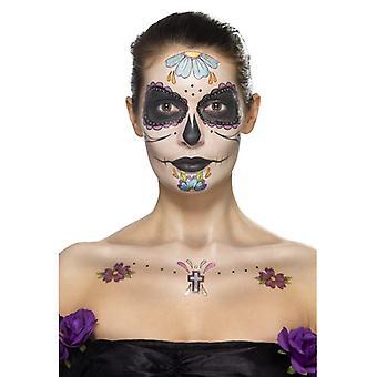 Dag av döda ansikte tatuering Kit