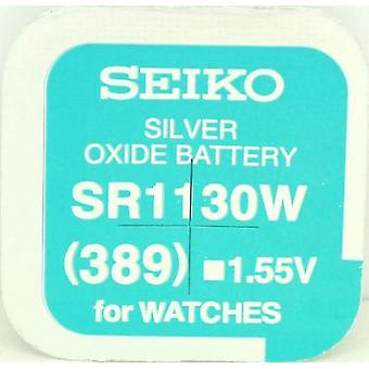 Seiko 389 (sr1130w) 1.55v Silver Oxide (0%hg) Mercury Free Watch Battery - Made In Japan