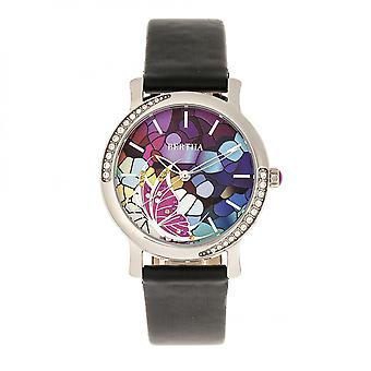 Banda de cuero de Vanessa Bertha reloj - negro