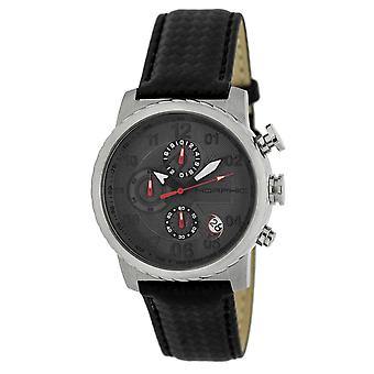 Morphic M38 Series Chronograph Men?s Watch w/ Date - Silver/Charcoal