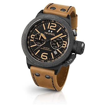 TW Steel Mens Canteen Light Brown Leather Strap CS44 Watch